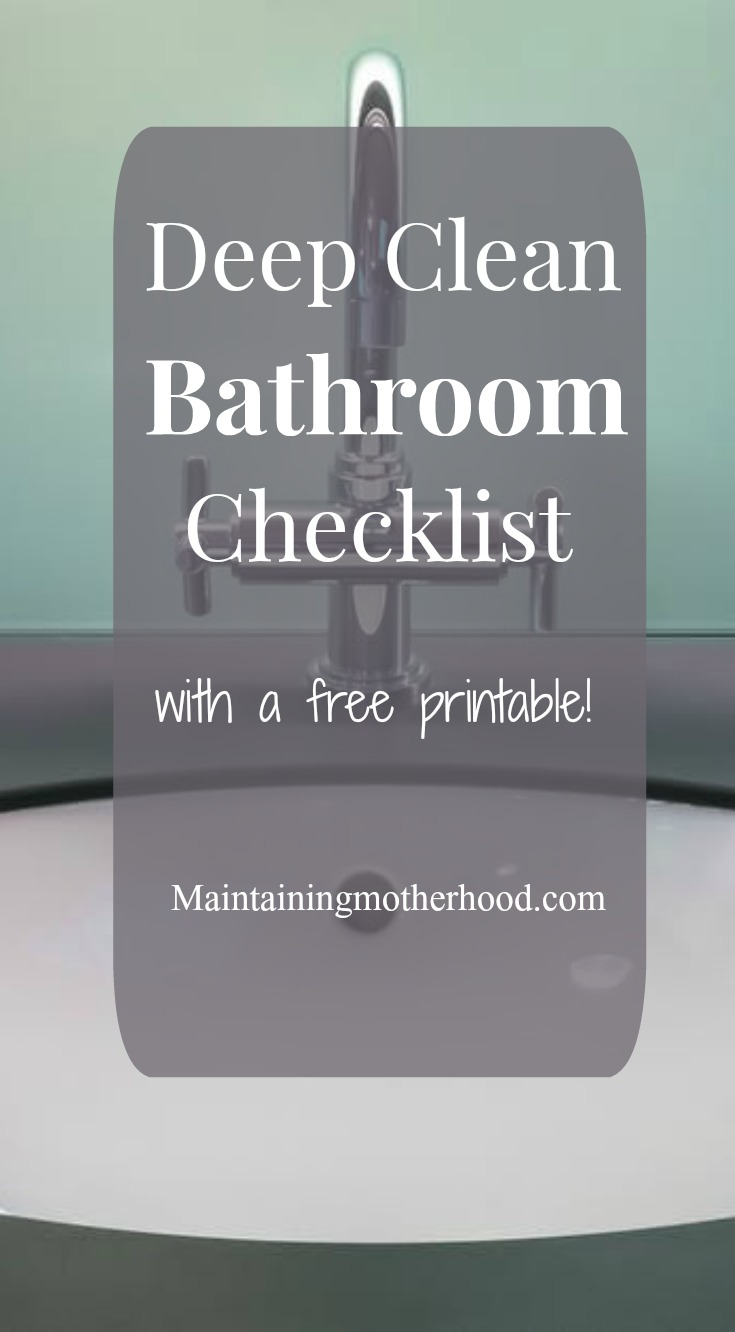 Do your bathrooms need to be deep cleaned? Follow this simple Deep Clean Bathroom Checklist and your bathrooms will sparkle in no time at all!