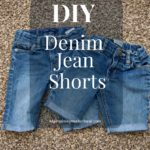 DIY Denim Jean Shorts