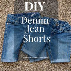 DIY Denim Jean Shorts