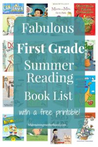 Need some great books for your First Grader to read and enjoy this summer? Look no further! Get your First Grade Summer Reading Book List here!