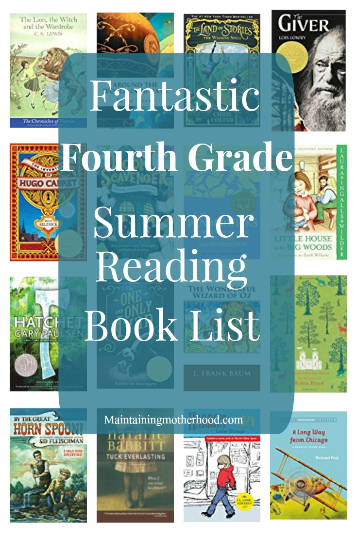 Need some great books for your Fourth Grader to read this summer? Look no further! Get your Fourth Grade Summer Reading Book List here!