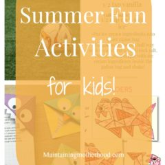 Summer Fun Activities for Kids Week 3