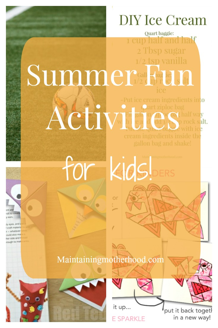 Looking for activities to keep your kids busy this summer? Follow along with our art and science projects and other summer fun activities for kids.