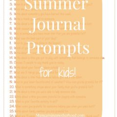 Summer Journal Prompts for Kids!