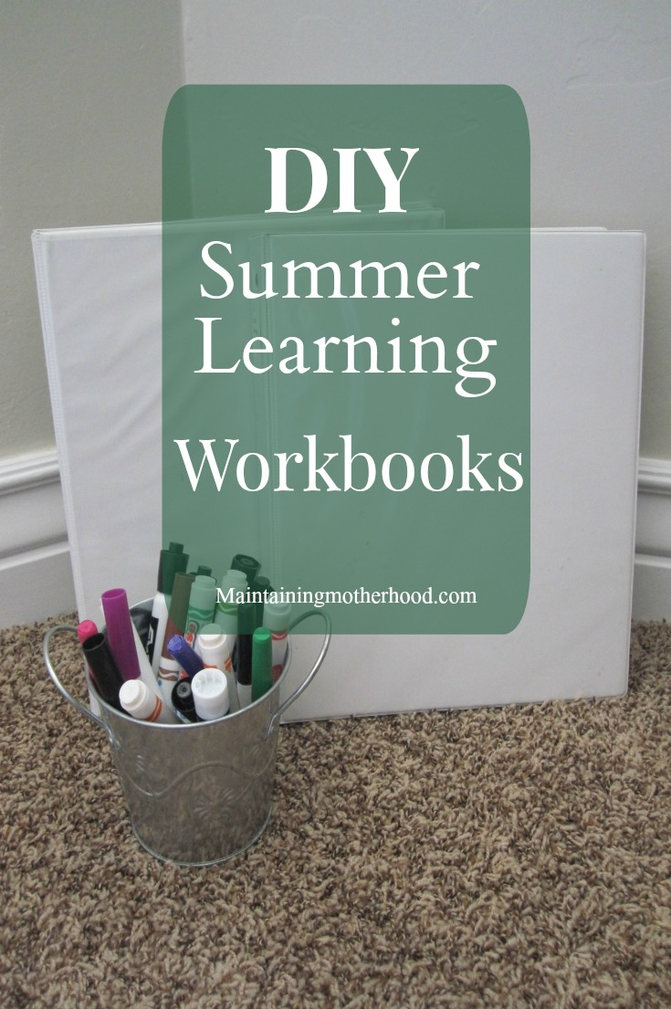 Do you enjoy teaching your children? Here is a simple, low cost curriculum to use again and again! Try these DIY Summer Learning Workbooks this summer!