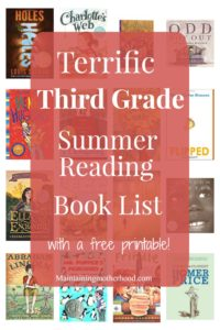 Need some great books for your Third Grader to read this summer? Look no further! Get your Third Grade Summer Reading Book List here!