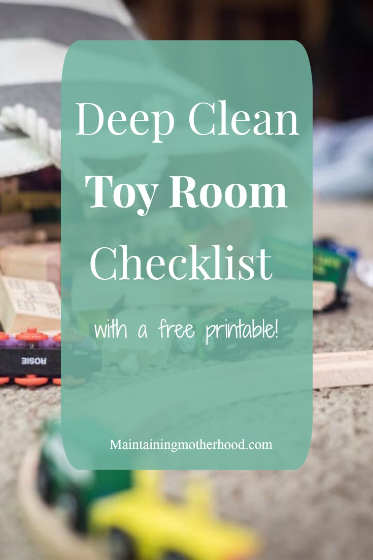 Are your laundry and toys out of control? Follow these simple Deep Clean Laundry Room and Toy Room checklists to whip these areas into shape in no time!