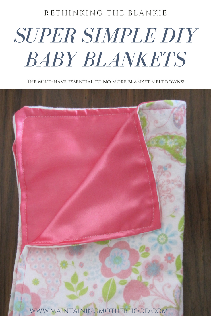 Tired of loosing special blankies or experiencing meltdowns while washing them? Try rethinking the blankie. These DIY mini baby blankets are essential!