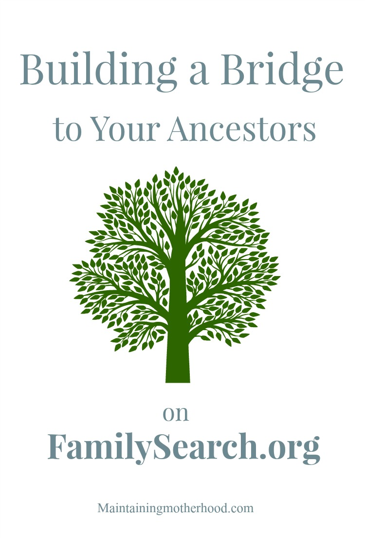 Ready to start your Family History? Grab a pedigree chart and start building a bridge to your ancestors on FamilySearch.org. Get a free account today!