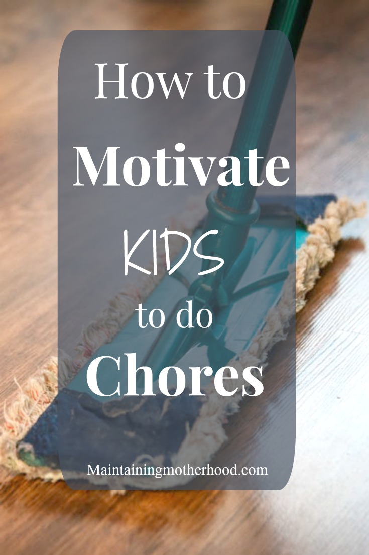 Are you struggling with how to motivate kids to do chores? With a few simple motivators, your kids will be eagerly doing their chores!