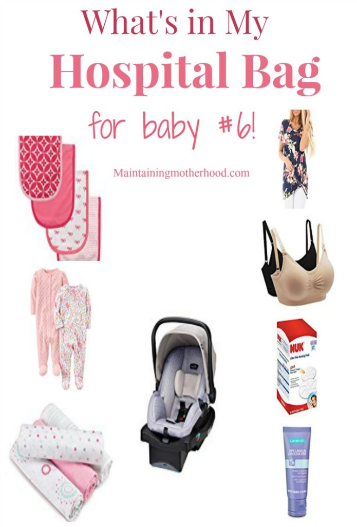 Trying to figure out what to pack in your hospital bag for you and your baby? Here's the list of the essentials I have packed for my 6th baby.