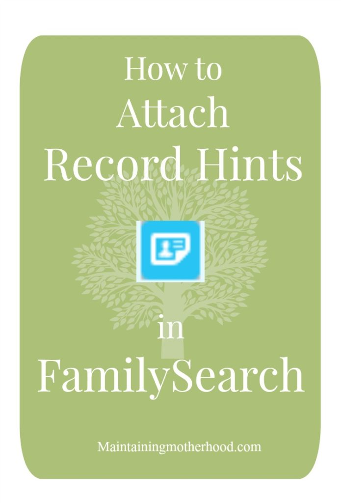 re you confused about attaching a Record Hint in FamilySearch? Learn all about Record Hints: why they are important, and how to find and attach them!