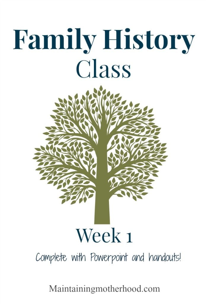Need a quick and easy outline to teach a Family History class? Grab the course outline, Powerpoint presentation and a hand out all right here! Week 1 of 4.