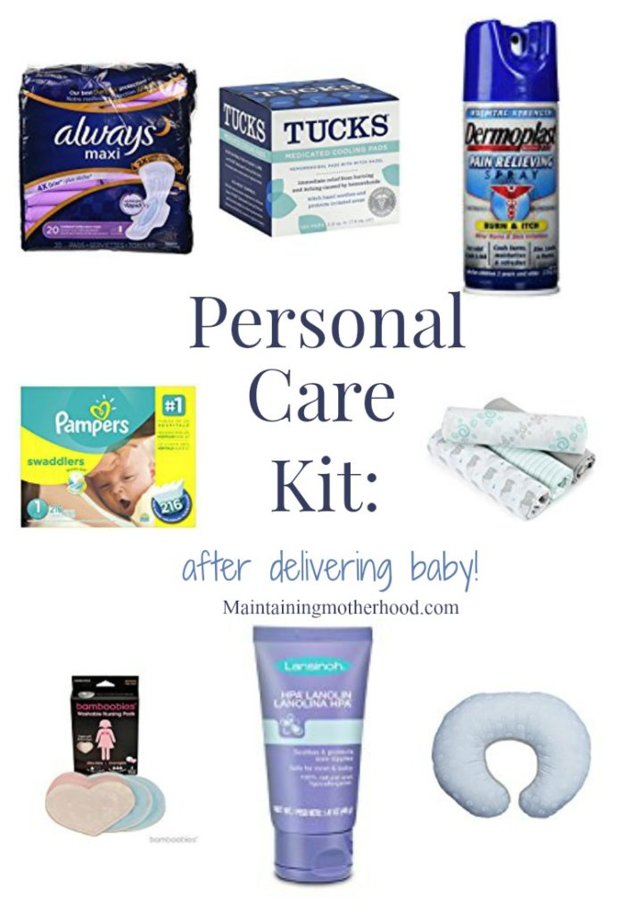 Having a baby soon? Check out this list of items for a personal care kit to have everything you need on hand before you come home with baby!