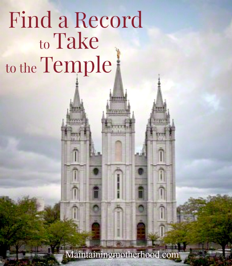 Want a way that will maximize your time spent doing Family History work? Learn how to Find a Record to take to the temple!