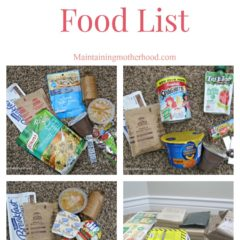 72 Hour Kit Food List