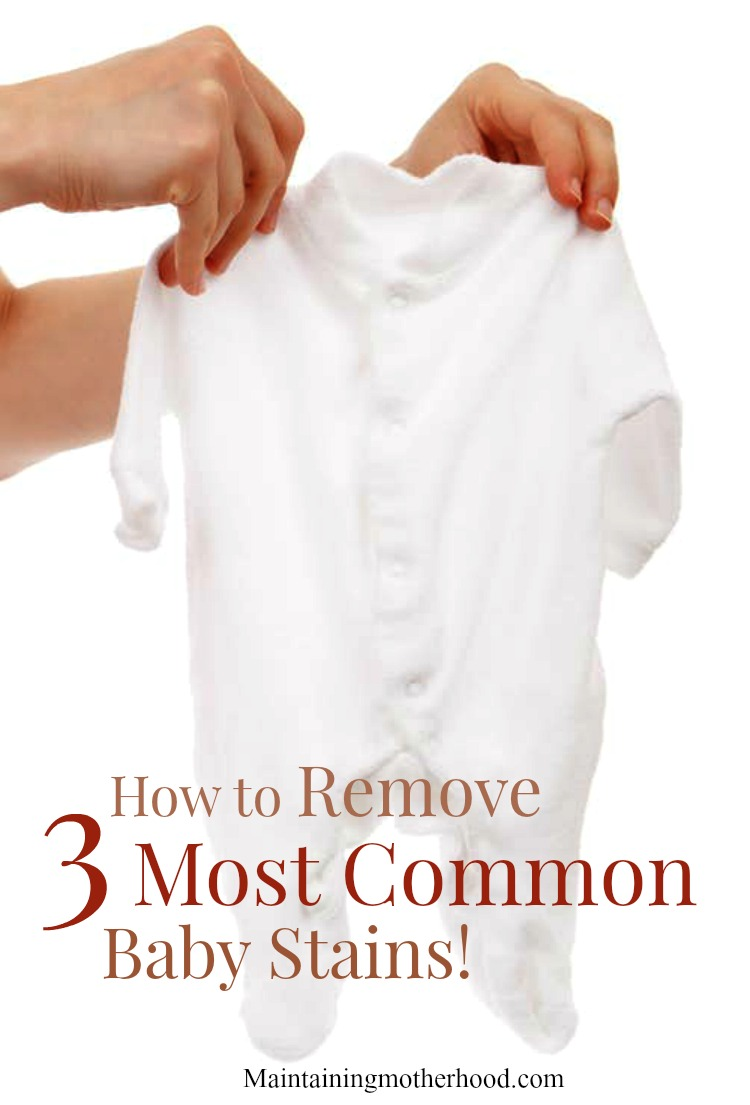 Do you have stained baby clothes? Learn how to easily remove the top 3 baby stains with products you most likely already have!