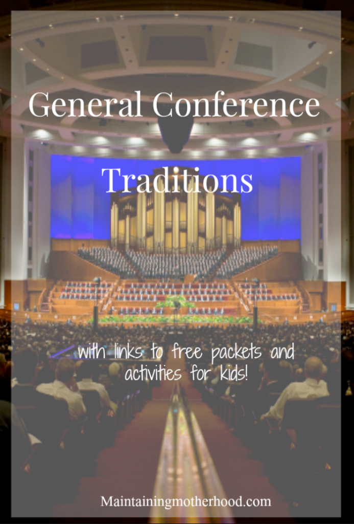 Looking for ways to keep your children entertained, yet involved during General Conference? Here are our traditions to give ideas for your own family!