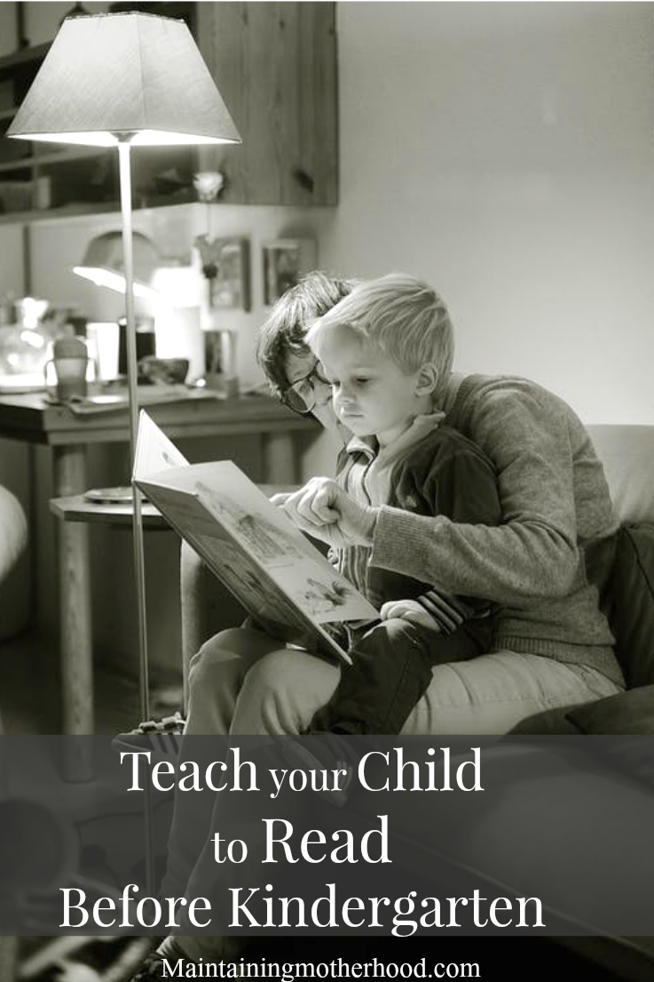 Teach Your Child to Read Before Kindergarten