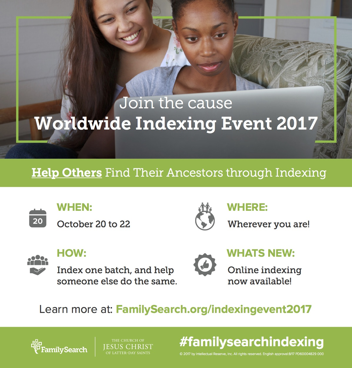Are you looking for a simple way to become involved in Family History? Join the Worldwide Indexing Event to help information be more available for research!