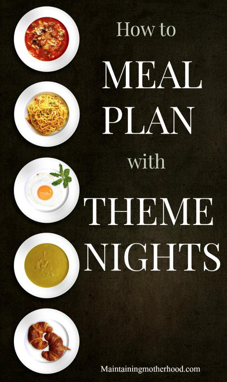 meal planning with theme nights  u2013 maintaining motherhood