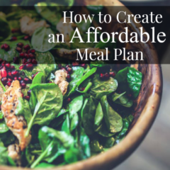 How to Create an Affordable Meal Plan