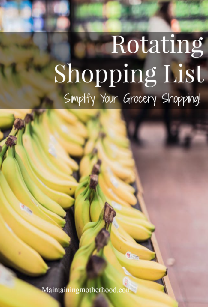 The best way to ensure successful, efficient, and infrequent grocery shopping trips is by planning out your trip before with a great rotating shopping list!