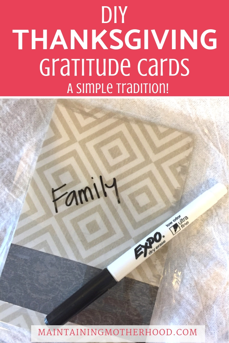 Looking for a new Thanksgiving tradition? Learn how to make these simple DIY Thanksgiving thankful cards that can be reused year after year!