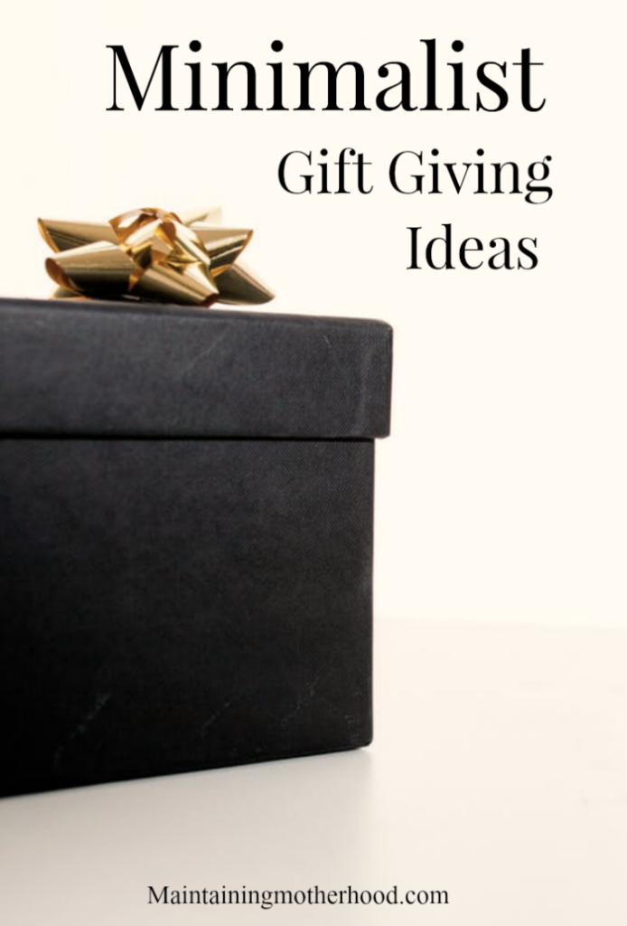 Are you trying to find a way to give gifts without adding additional clutter and chaos? We have adopted a minimalist gift giving approach and found it to be great in easing entitlement!