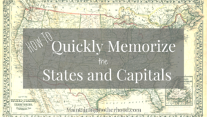 Looking for a trick to quickly memorize States and Capitals? Learn how you can teach even your youngest kids to easily memorize all 50 States and Capitals!