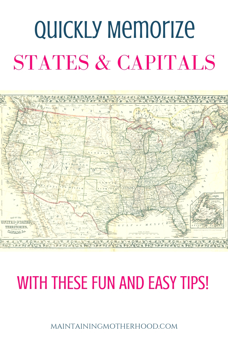 Looking for a trick to quickly memorize States and Capitals? Learn how you can teach even your youngest kids to easily memorize the States and Capitals!