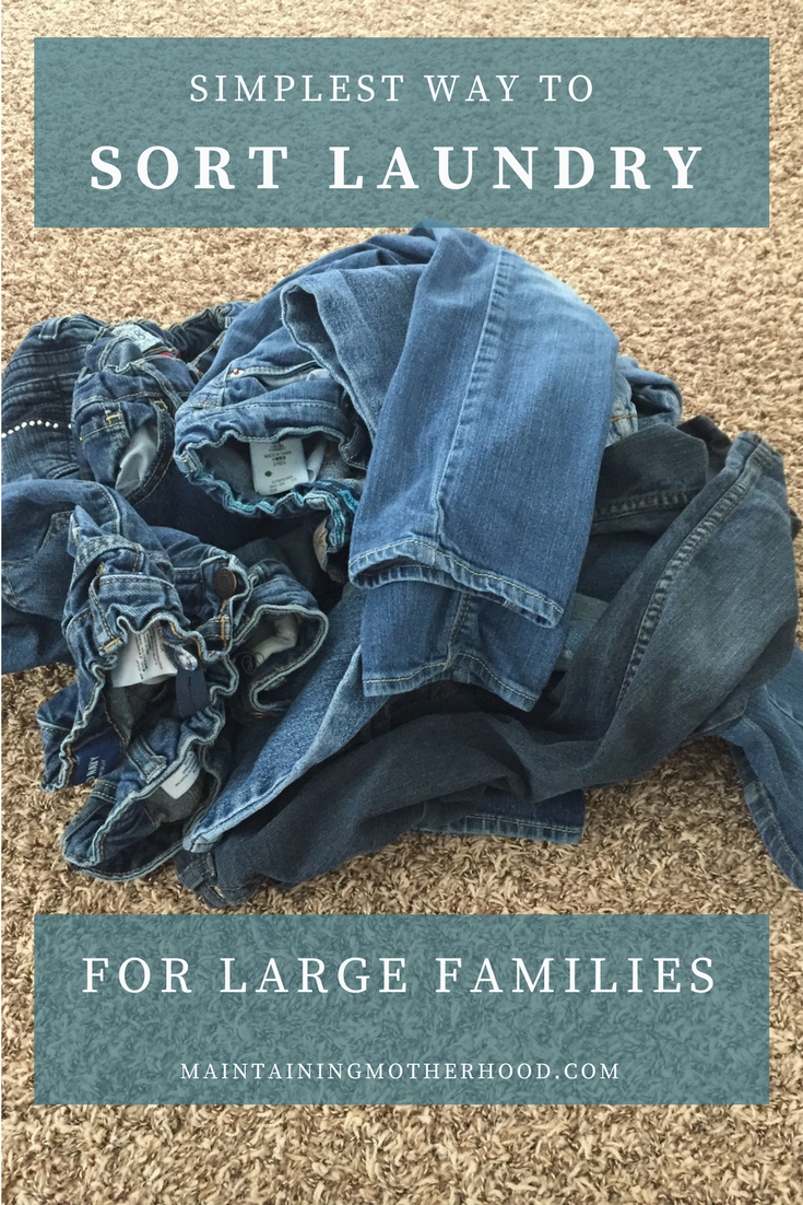 Do you dread sorting the laundry after washing, especially when you have a whole load of jeans in a large family? Try this quick trick to quickly sort laundry. It's so simple, even your kids can sort the laundry!