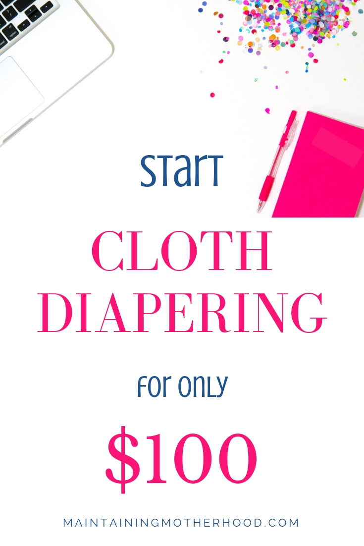 Have you thought about using cloth diapers, but are still unsure? If the cost is the factor, here's how to get your own cloth diaper stash for only $100!