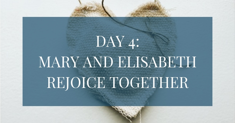 In the Christmas Countdown Book, Day 4 is about Mary and Elisabeth rejoicing together. See what art, scripture, song, video, and ornament we used to help us remember Christ.