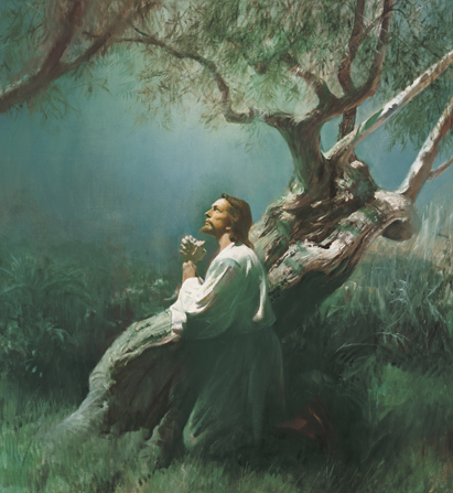 Christmas Countdown Book Day 20: The Savior Suffers in Gethsemane. See the art, scripture, song, video, and ornament that help us remember Christ.