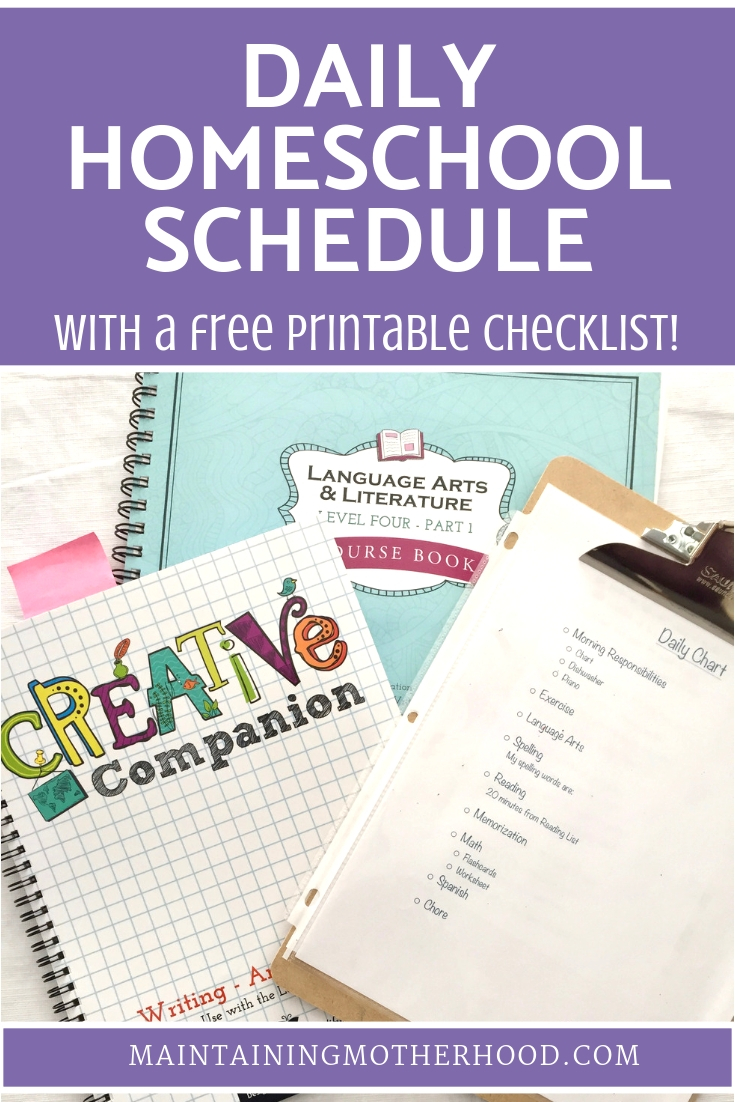 Want to have a flawlessly run homeschool every day? Here is our Homeschool Routine Checklist to help each day be fun and effective!