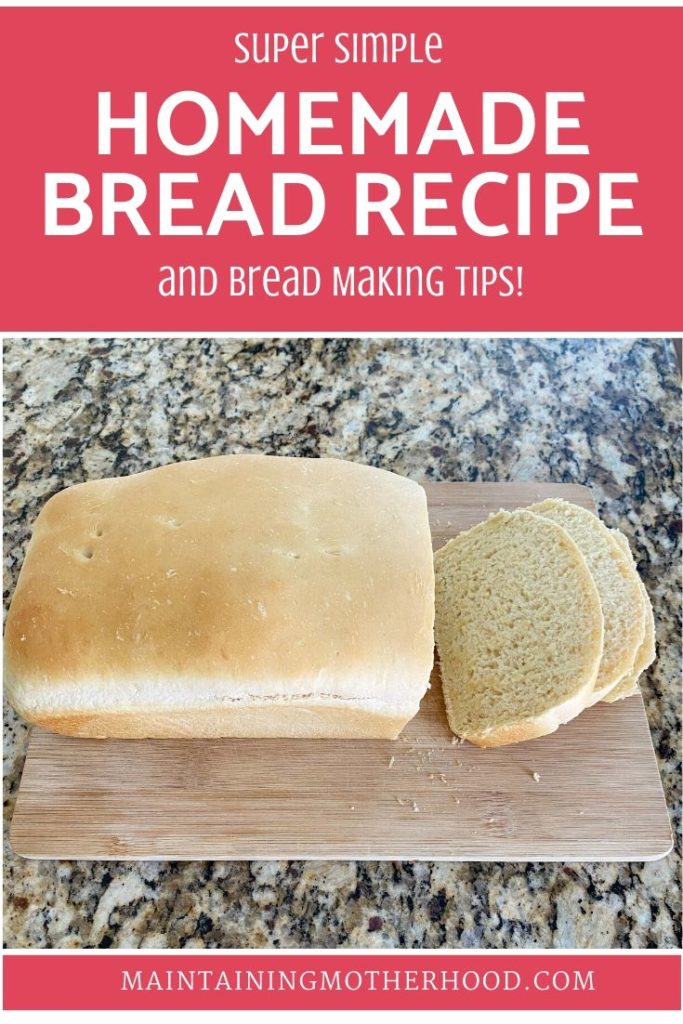 Are you looking for an easy homemade bread recipe? This recipe uses pantry staples, no fancy ingredients. Also, find all my best tips to Bread Making 101!