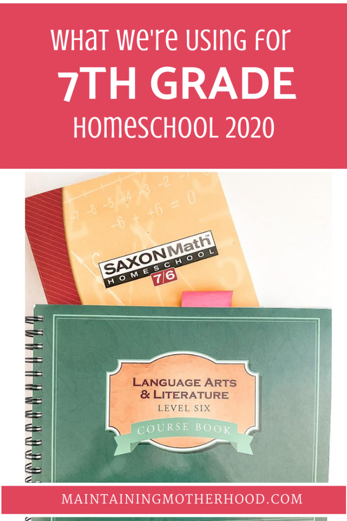 Wondering what we're using to teach 7th Grade this year? Here's our comprehensive list of 7th Grade Curriculum picks for 2020.