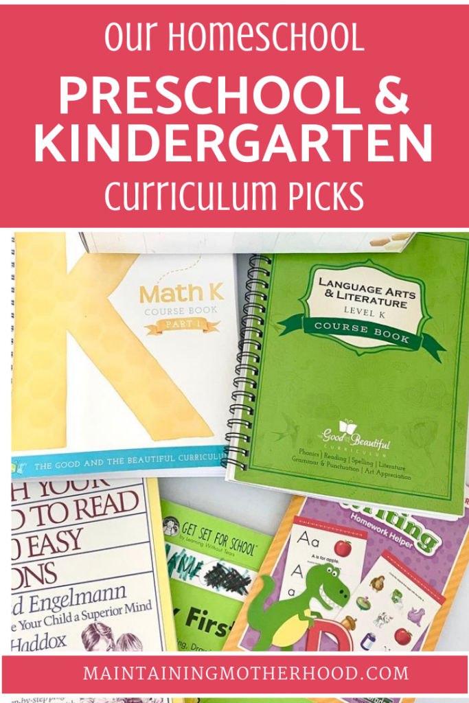 Wondering how to homeschool for Pre-K and Kindergarten? Here are some tips, tricks, and favorites for preschool and kindergarten homeschool!