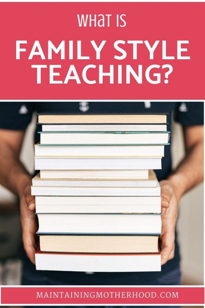 In order to simplify our homeschool, we have certain subjects that we teach Family Style. See which subjects and how we utilize family style teaching!