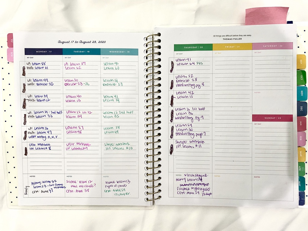 Are you overwhelmed when planning your homeschool year? Here's my easy planning process to help our year run smoothly!