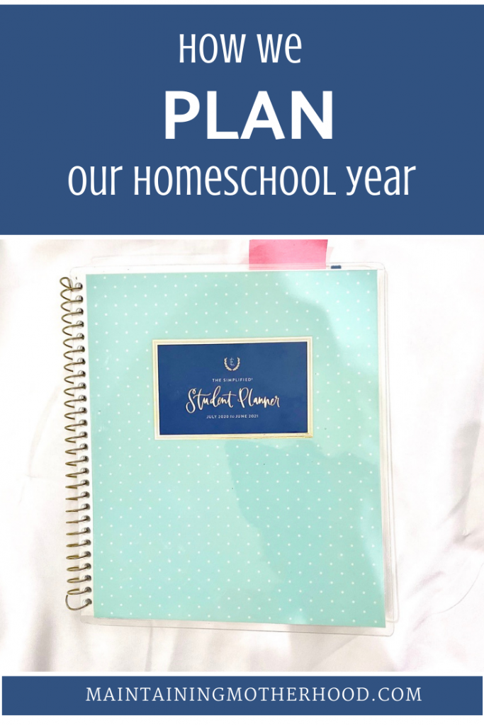Are you overwhelmed when planning your homeschool year? Here's my quick easy planning process to help our year run smoothly!