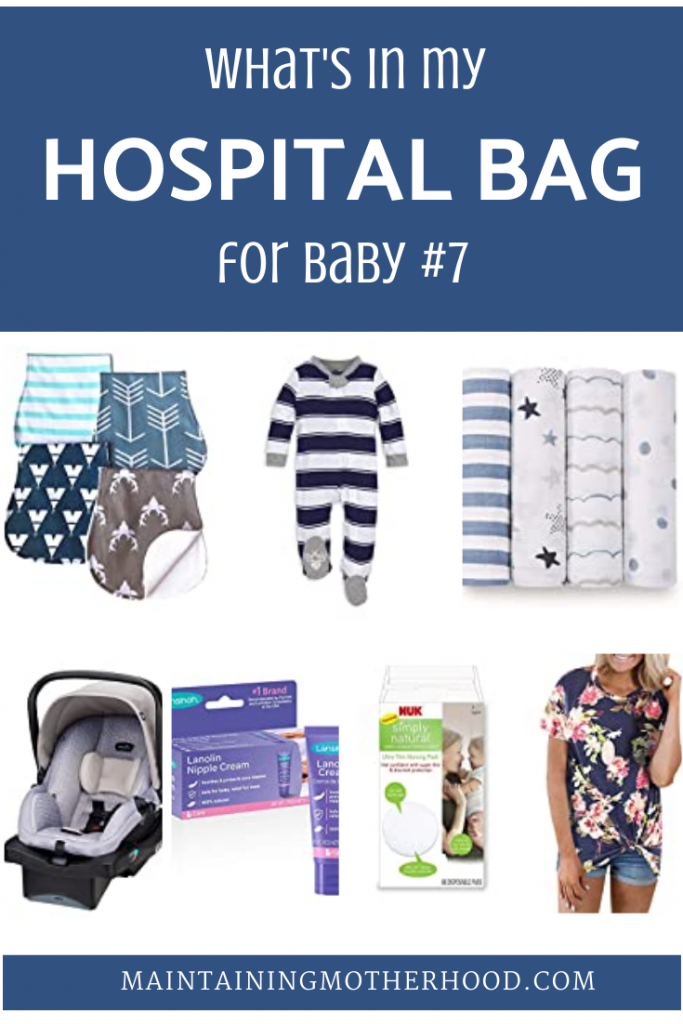 Trying to pack a hospital bag for you and your baby? Here's the list of the minimalist hospital bag essentials I have packed for my 7th baby.