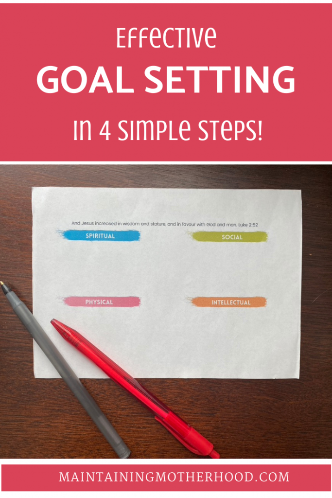 Need some help setting goals for you and your kids? Here are 4 easy steps to help you set and achieve your goals!